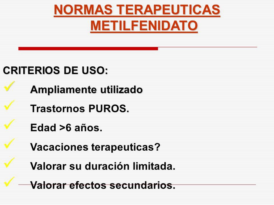 NORMAS TERAPEUTICAS METILFENIDATO