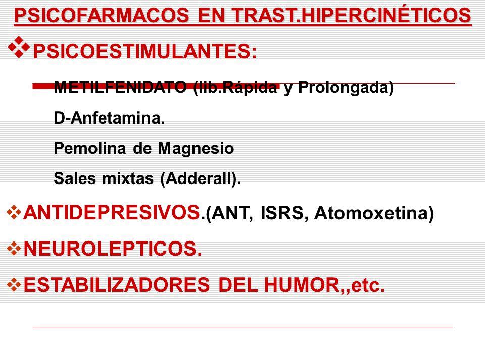 PSICOFARMACOS EN TRAST.HIPERCINÉTICOS