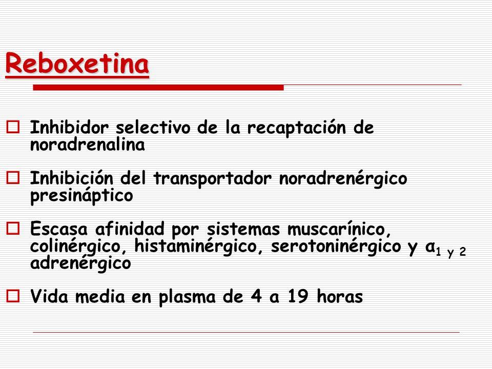 Reboxetina Inhibidor selectivo de la recaptación de noradrenalina