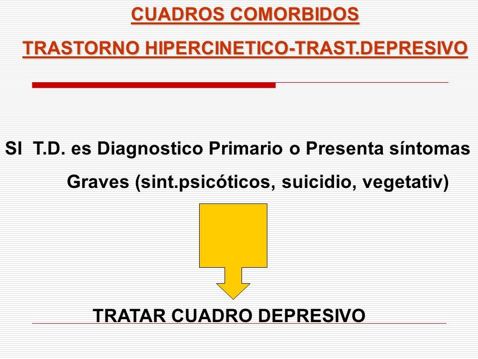 TRASTORNO HIPERCINETICO-TRAST.DEPRESIVO