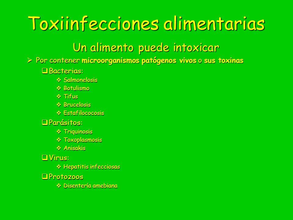 Toxiinfecciones alimentarias