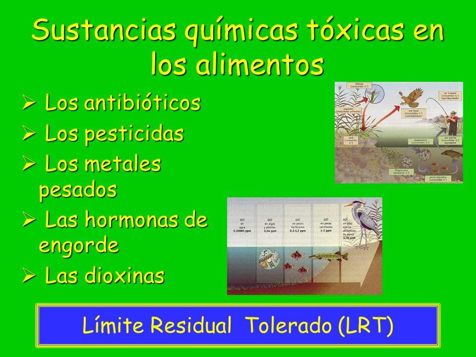 Sustancias químicas tóxicas en los alimentos