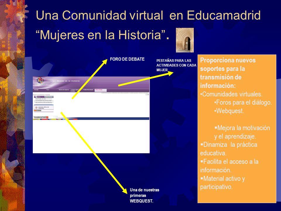 Una Comunidad virtual en Educamadrid Mujeres en la Historia .