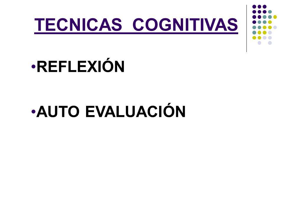 TECNICAS COGNITIVAS REFLEXIÓN AUTO EVALUACIÓN
