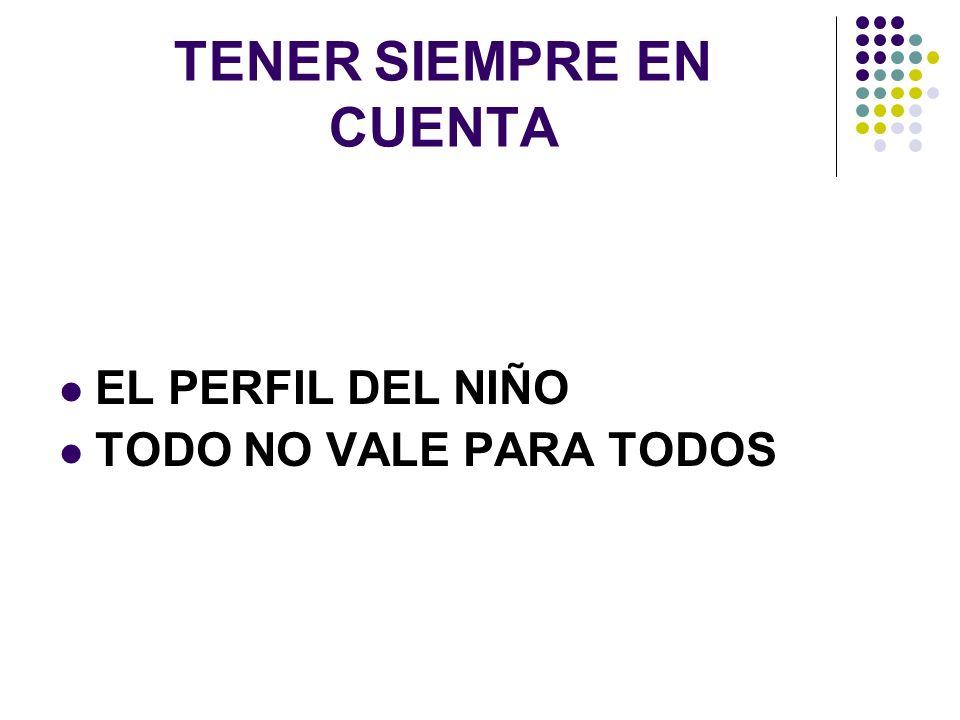 TENER SIEMPRE EN CUENTA