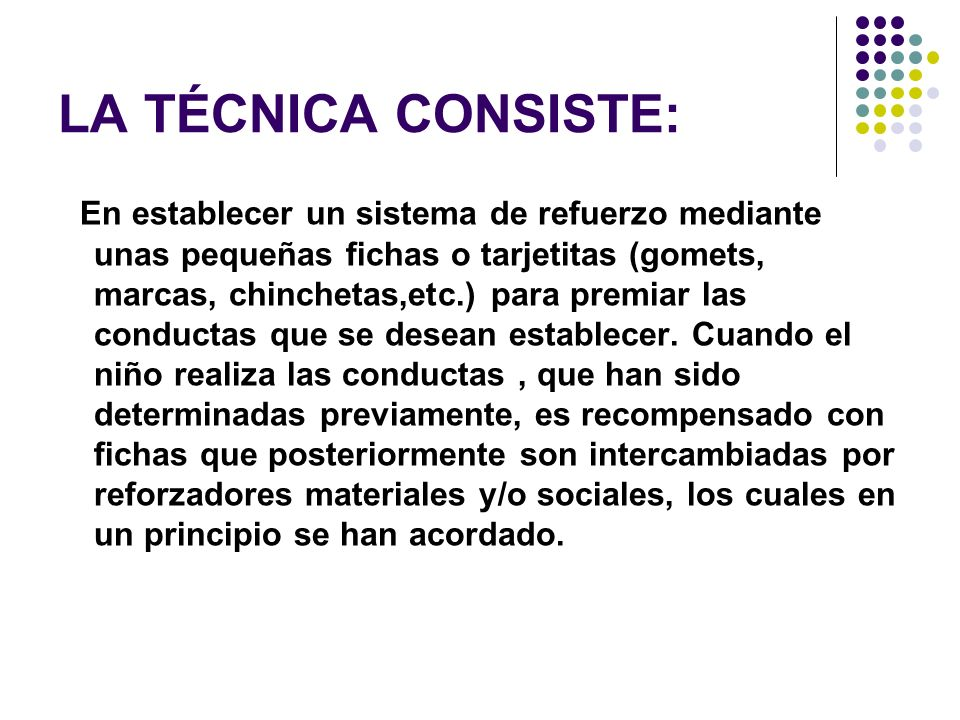 LA TÉCNICA CONSISTE: