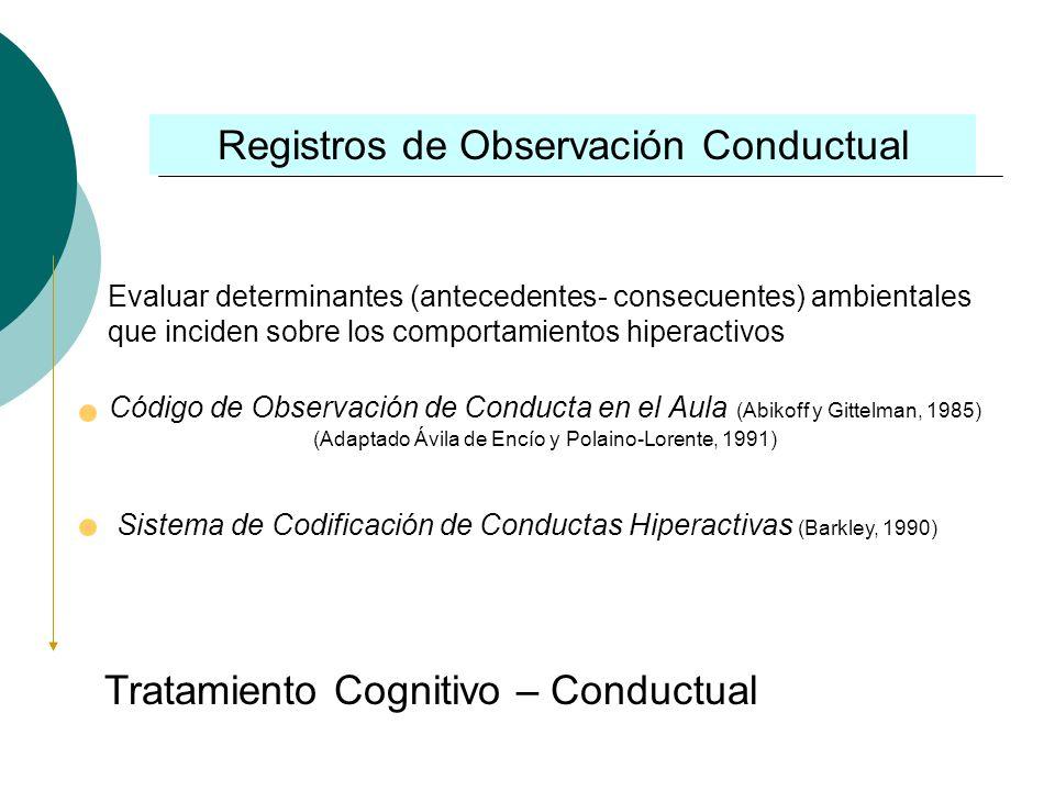 Registros de Observación Conductual