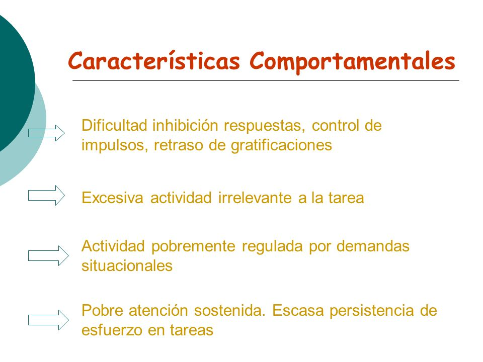 Características Comportamentales