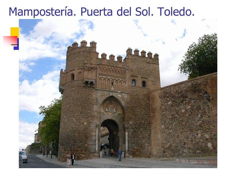 Mampostería. Puerta del Sol. Toledo.