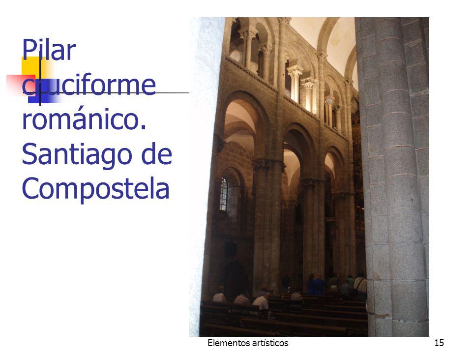 Pilar cruciforme románico. Santiago de Compostela
