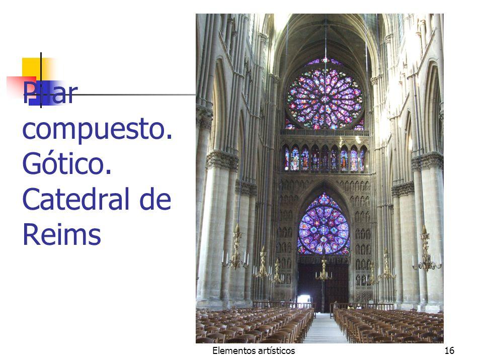 Pilar compuesto. Gótico. Catedral de Reims