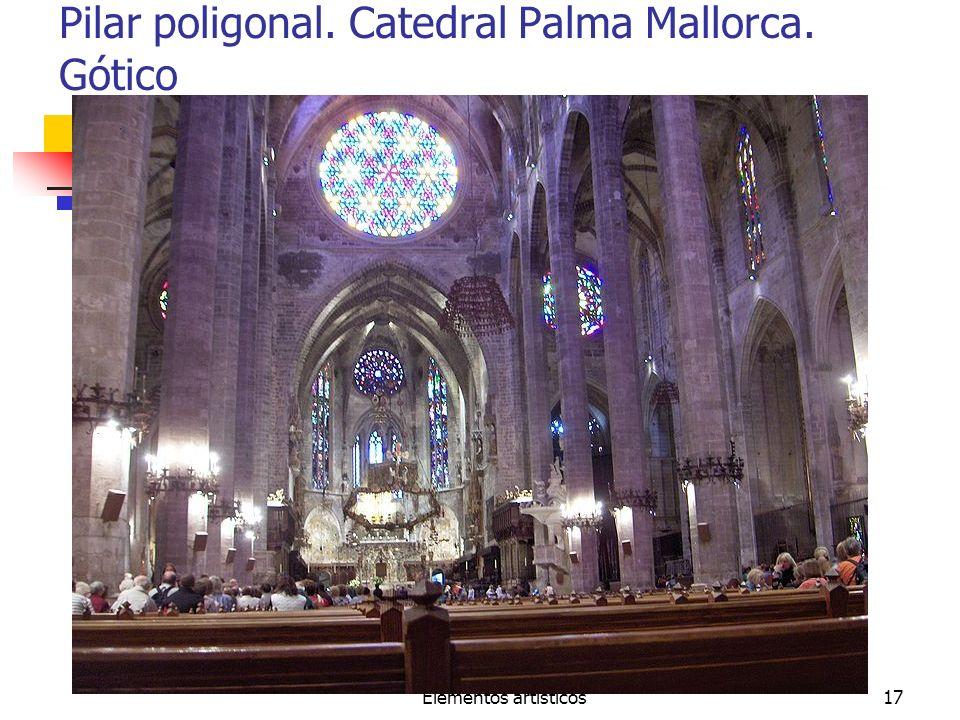 Pilar poligonal. Catedral Palma Mallorca. Gótico