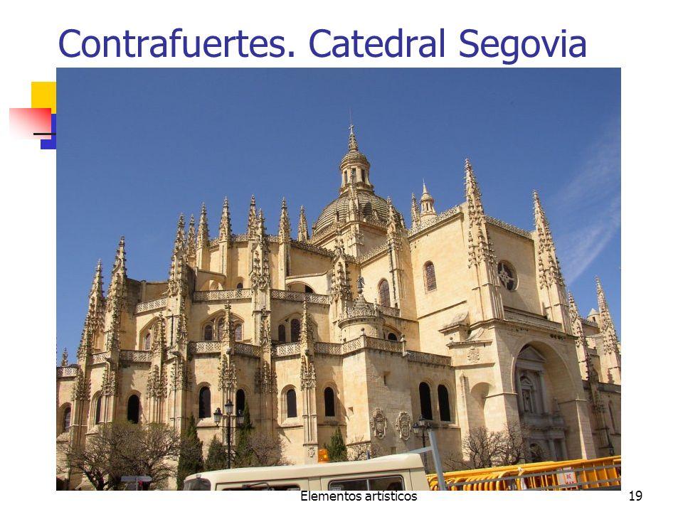 Contrafuertes. Catedral Segovia