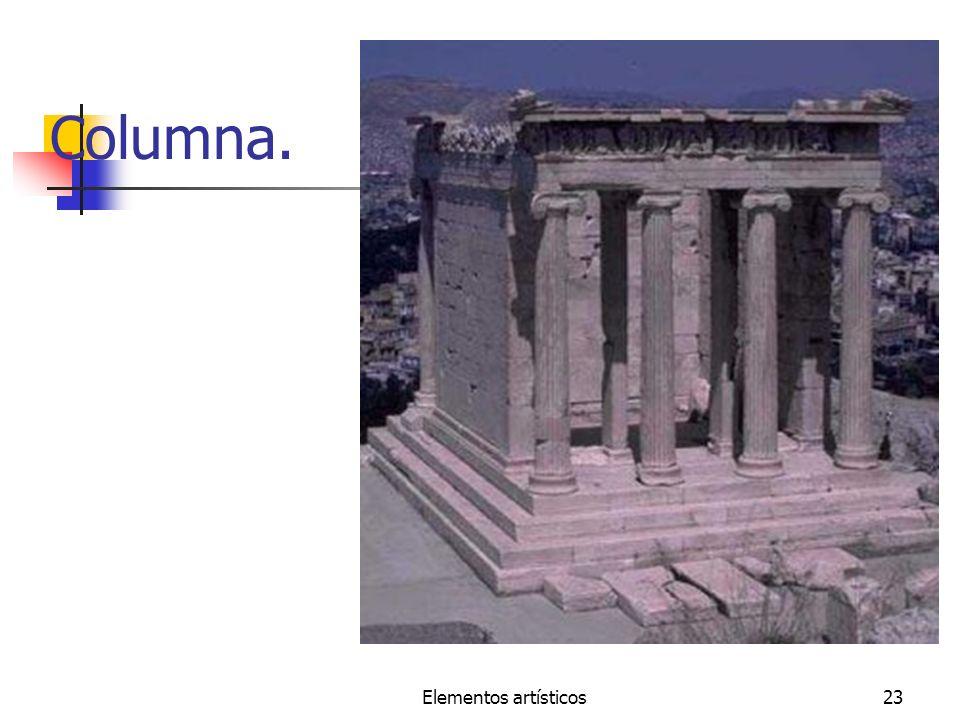 Columna. Elementos artísticos