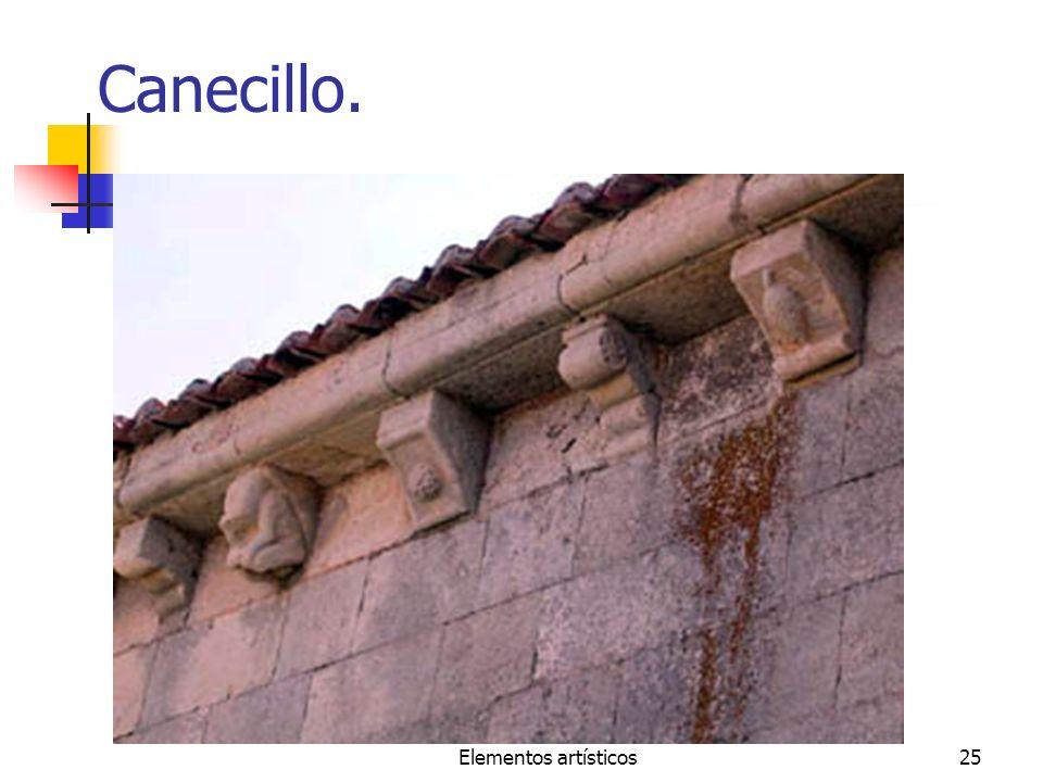 Canecillo. Elementos artísticos