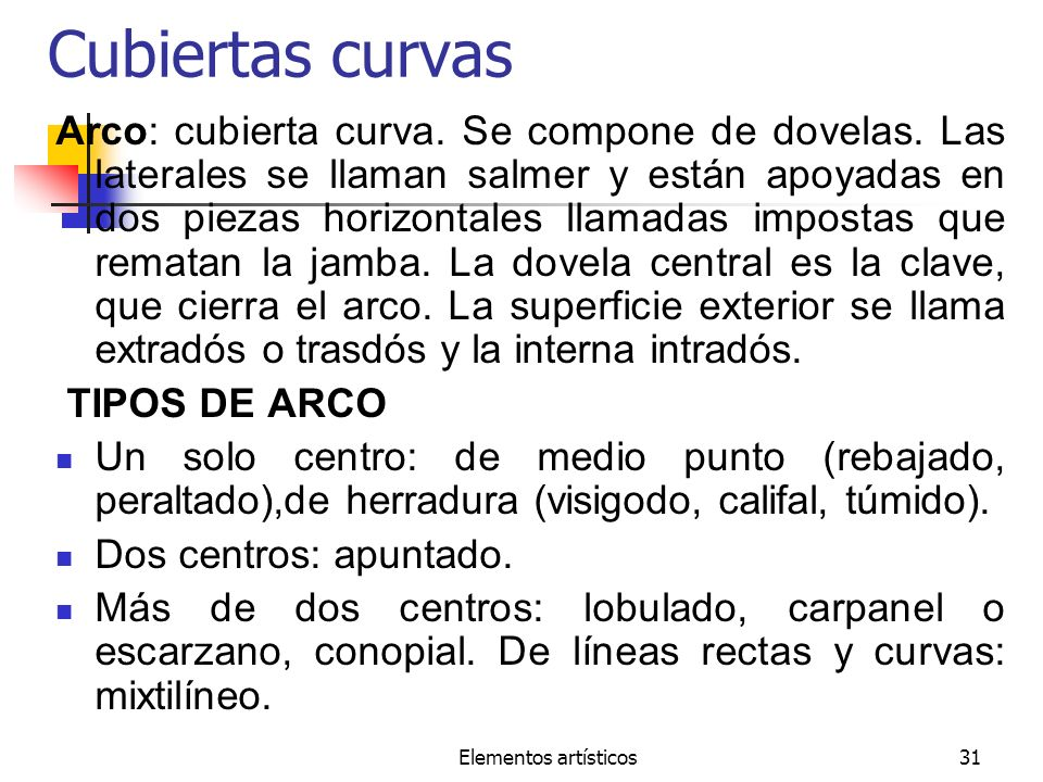 Cubiertas curvas