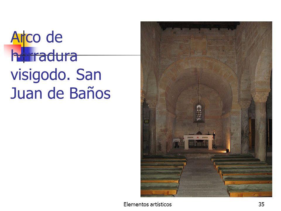 Arco de herradura visigodo. San Juan de Baños