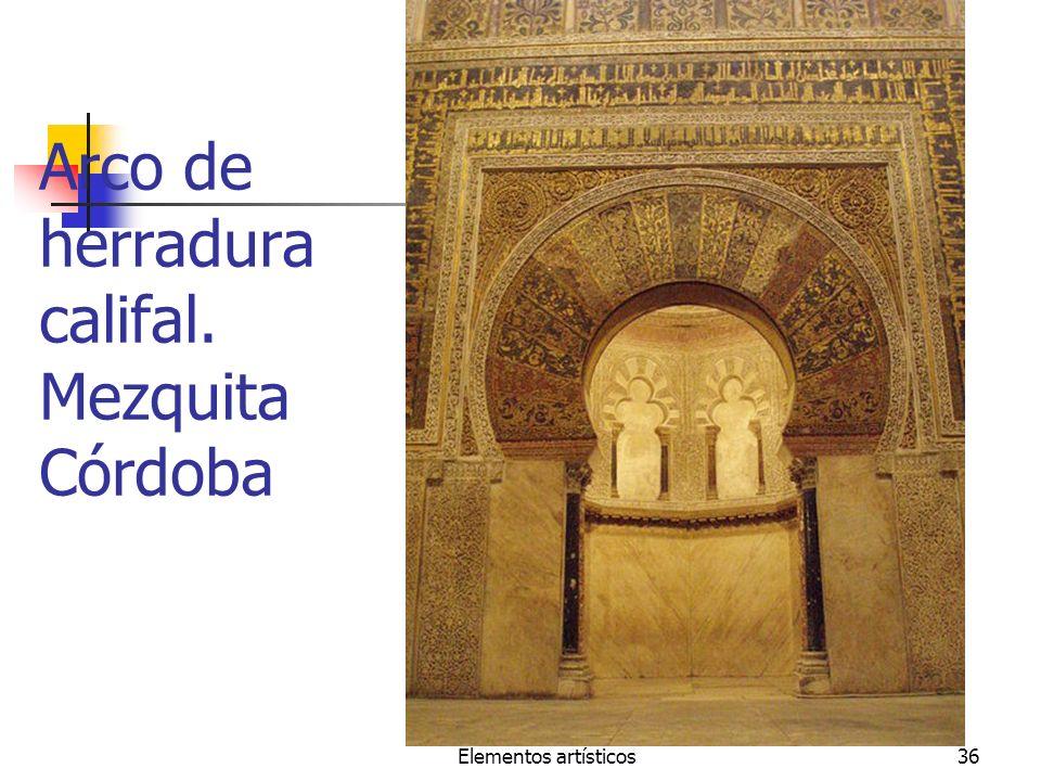 Arco de herradura califal. Mezquita Córdoba