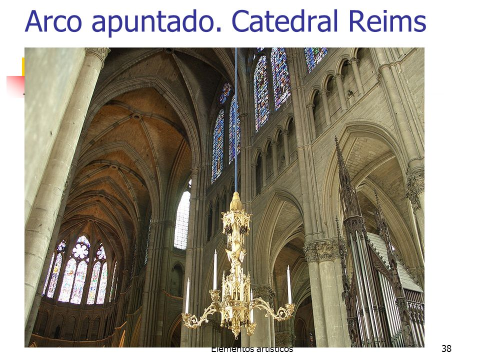 Arco apuntado. Catedral Reims