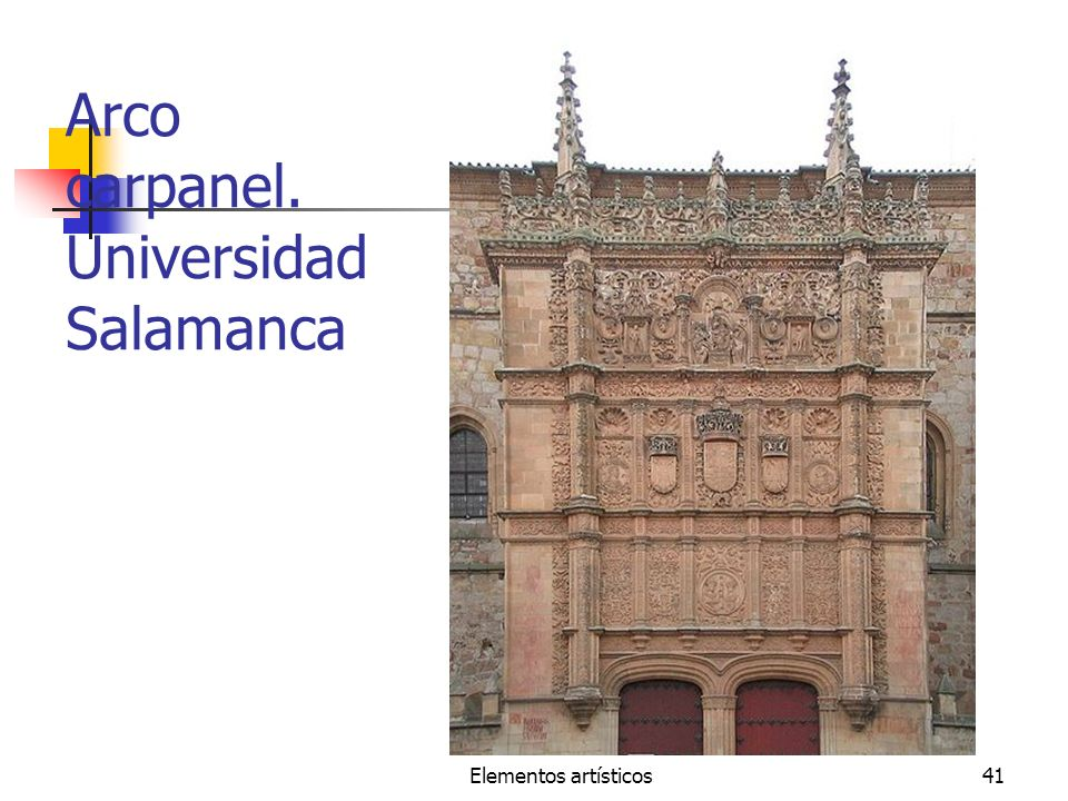Arco carpanel. Universidad Salamanca