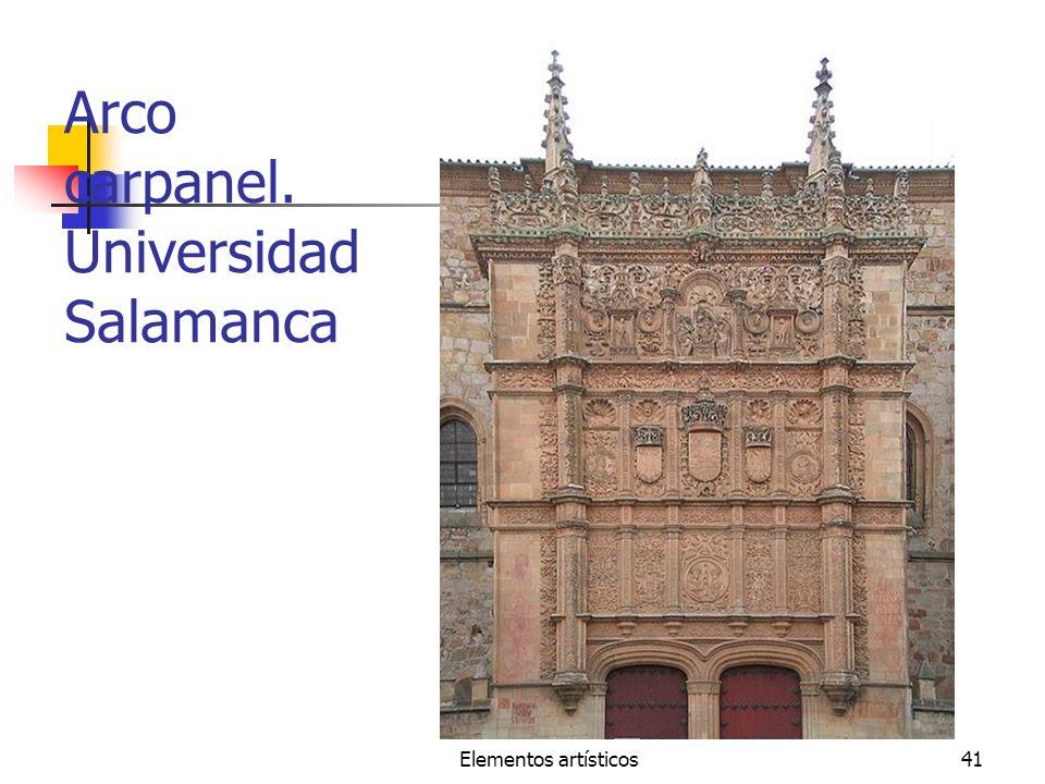 Arco carpanel. Universidad Salamanca