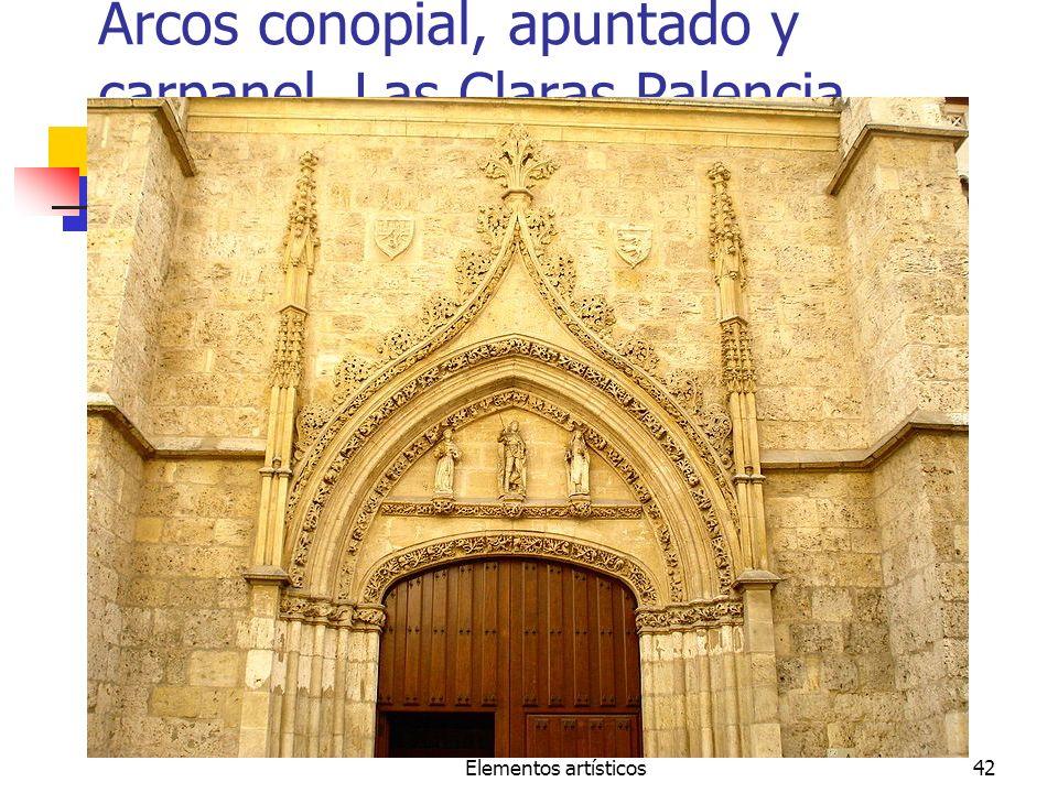 Arcos conopial, apuntado y carpanel. Las Claras Palencia
