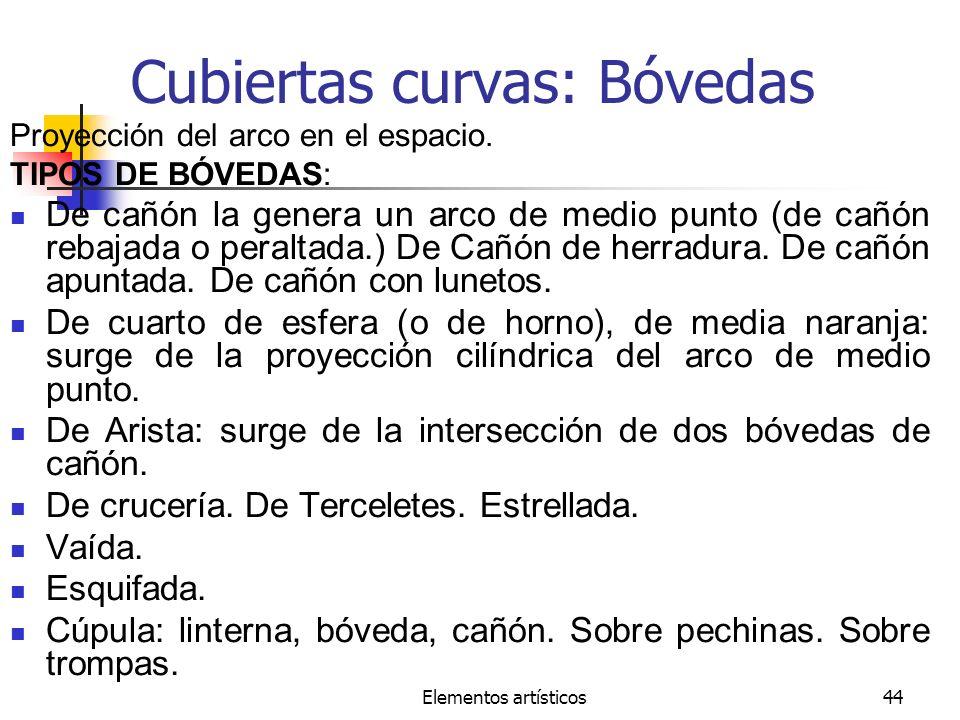 Cubiertas curvas: Bóvedas