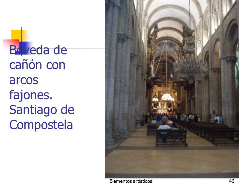 Bóveda de cañón con arcos fajones. Santiago de Compostela