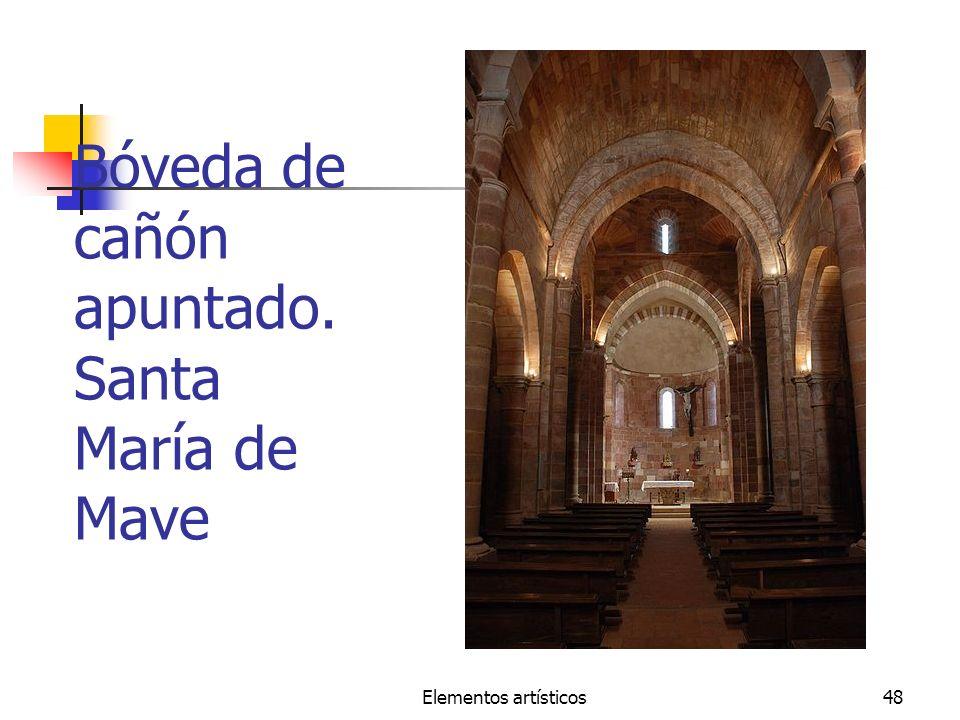 Bóveda de cañón apuntado. Santa María de Mave