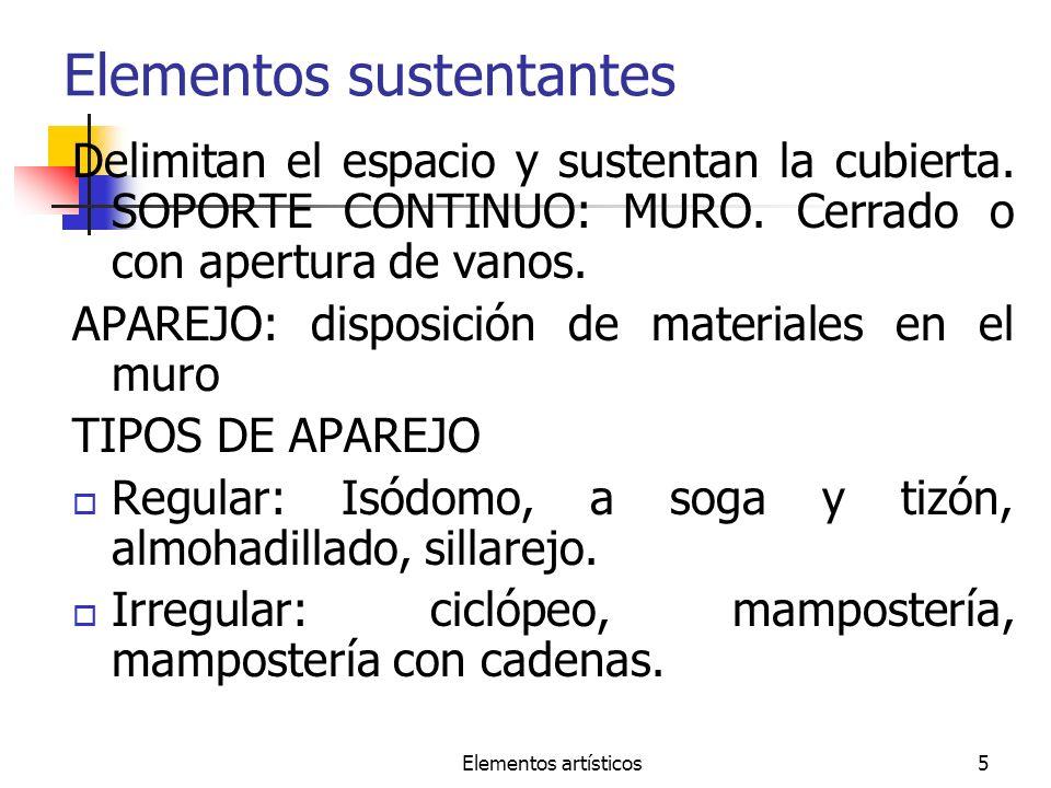 Elementos sustentantes