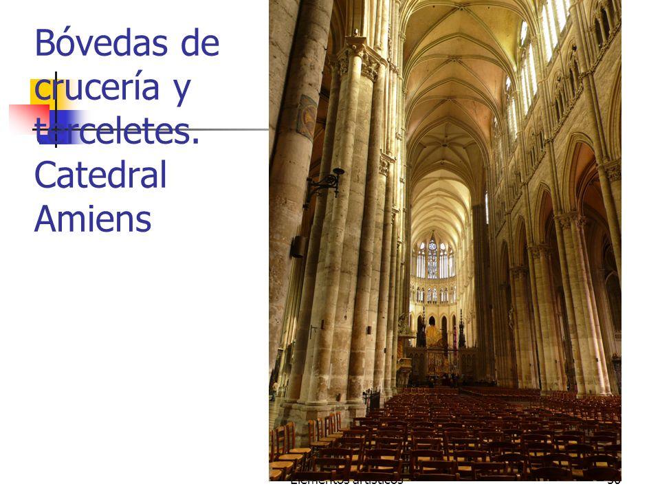 Bóvedas de crucería y terceletes. Catedral Amiens