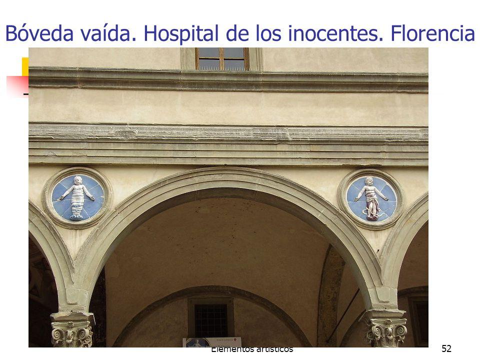 Bóveda vaída. Hospital de los inocentes. Florencia