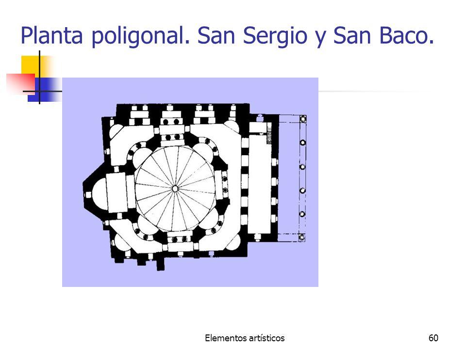 Planta poligonal. San Sergio y San Baco.