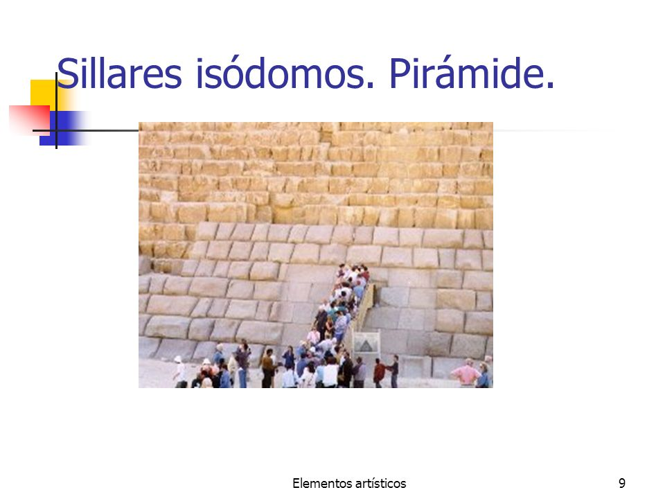 Sillares isódomos. Pirámide.
