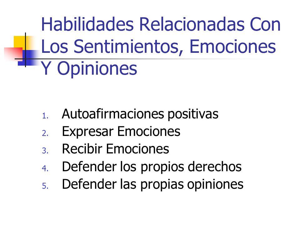 Habilidades Relacionadas Con Los Sentimientos, Emociones Y Opiniones