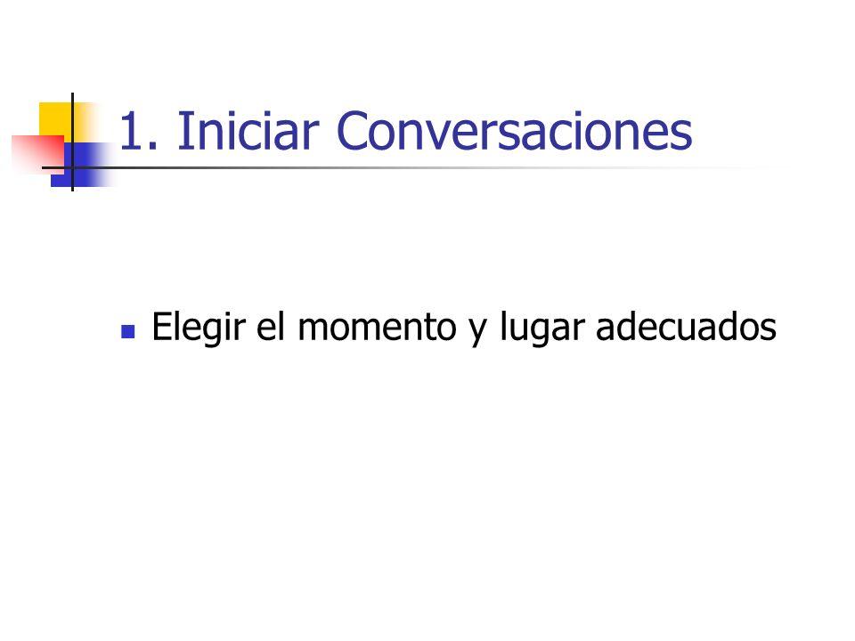 1. Iniciar Conversaciones