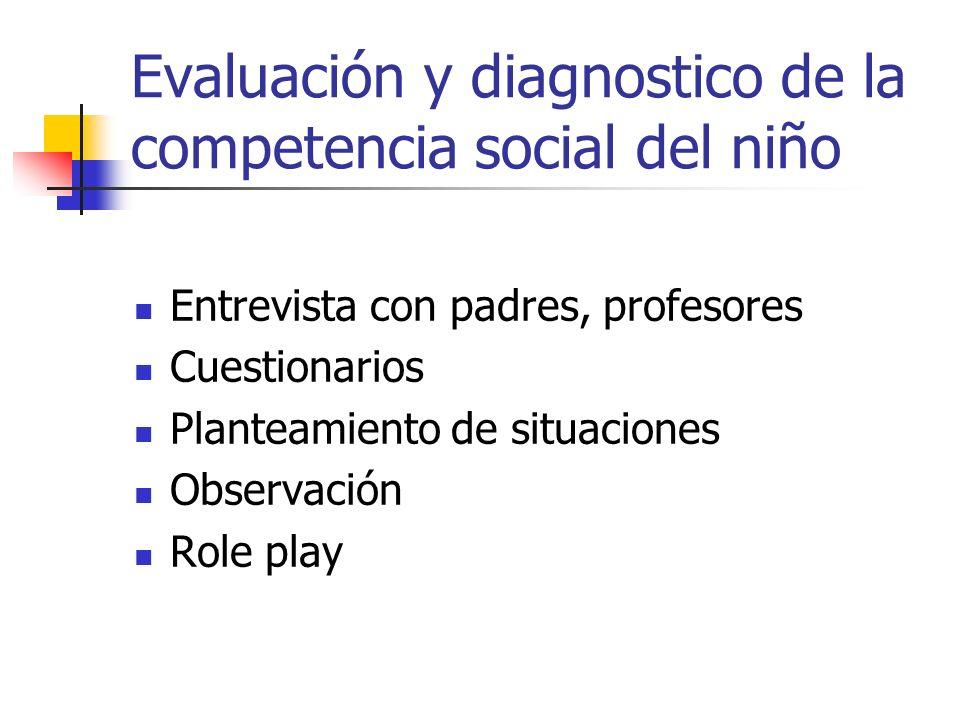 Evaluación y diagnostico de la competencia social del niño