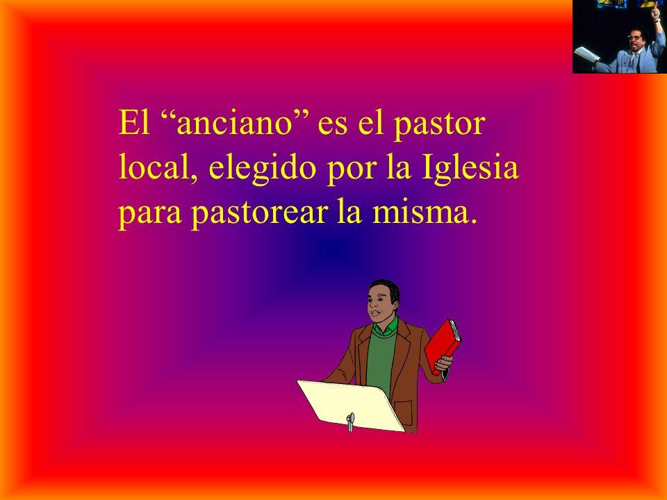 El anciano es el pastor local, elegido por la Iglesia para pastorear la misma.