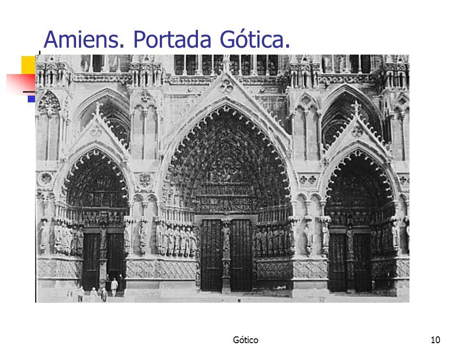 Amiens. Portada Gótica. Gótico