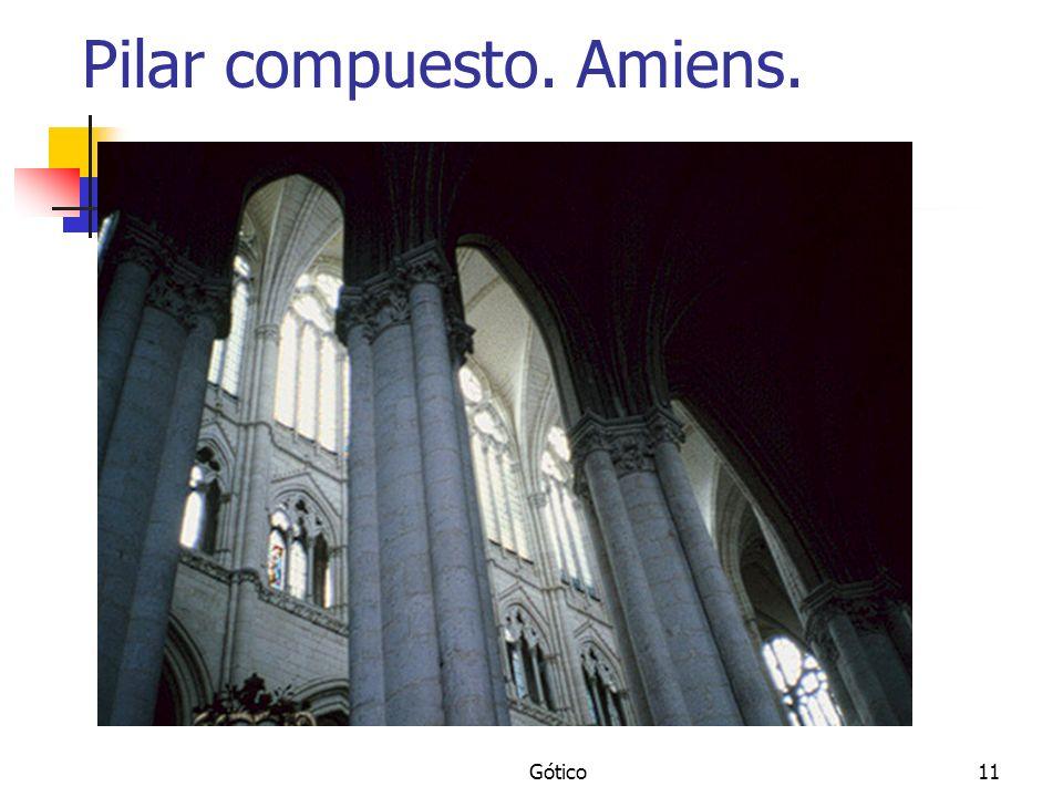 Pilar compuesto. Amiens.