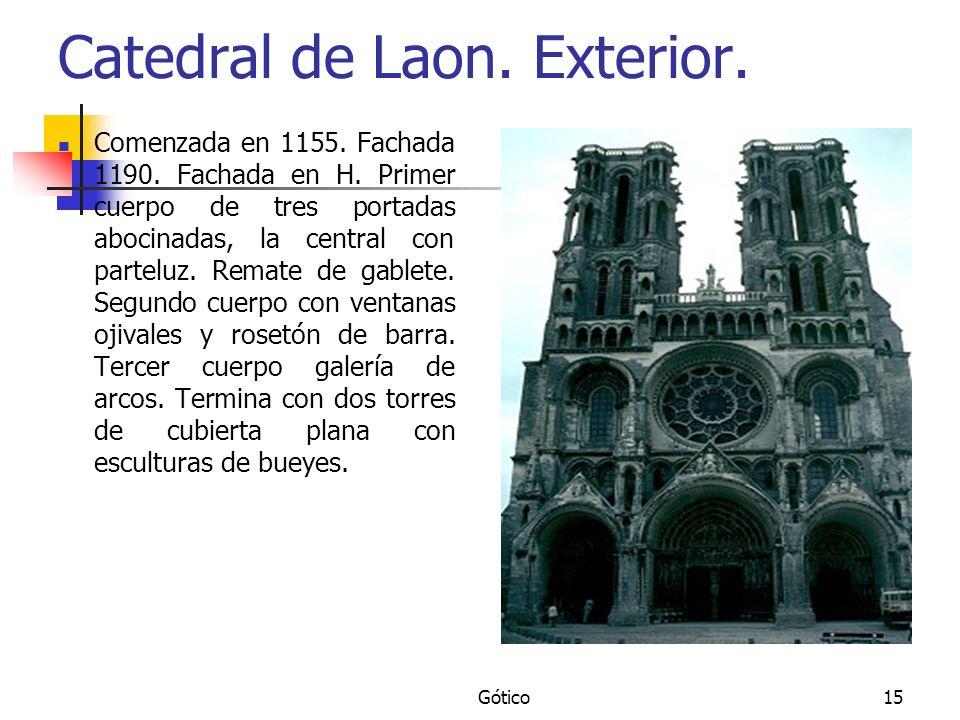 Catedral de Laon. Exterior.