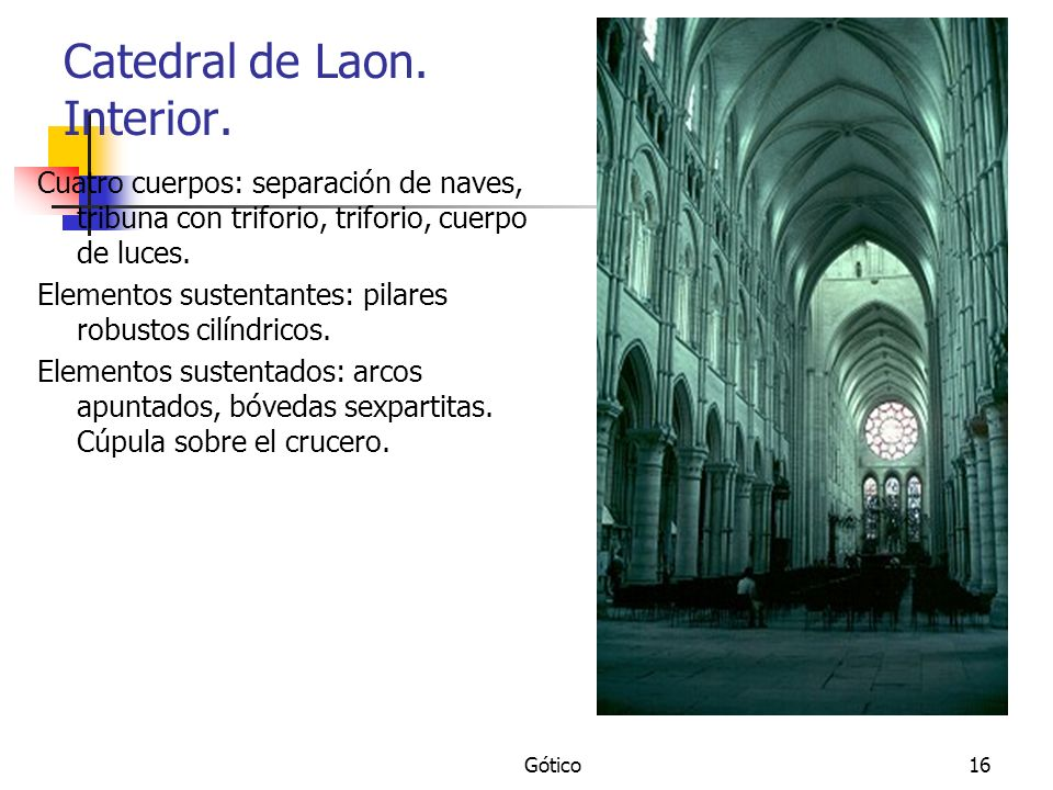 Catedral de Laon. Interior.