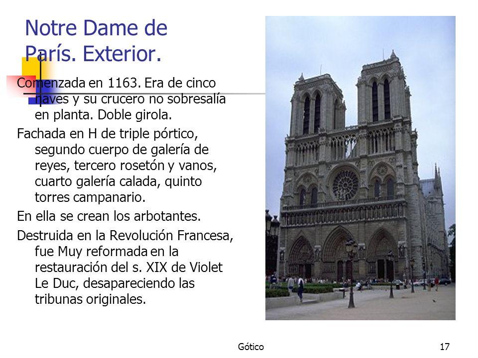 Notre Dame de París. Exterior.