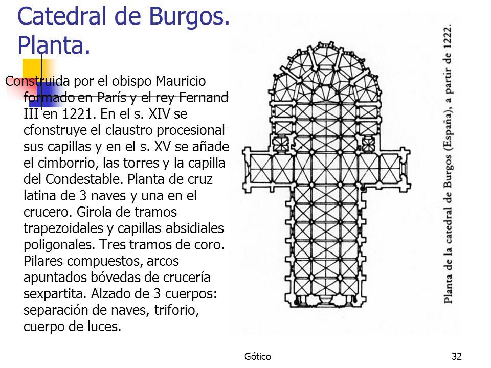Catedral de Burgos. Planta.