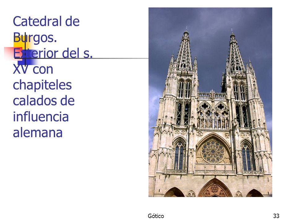 Catedral de Burgos. Exterior del s