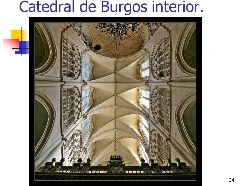Catedral de Burgos interior.