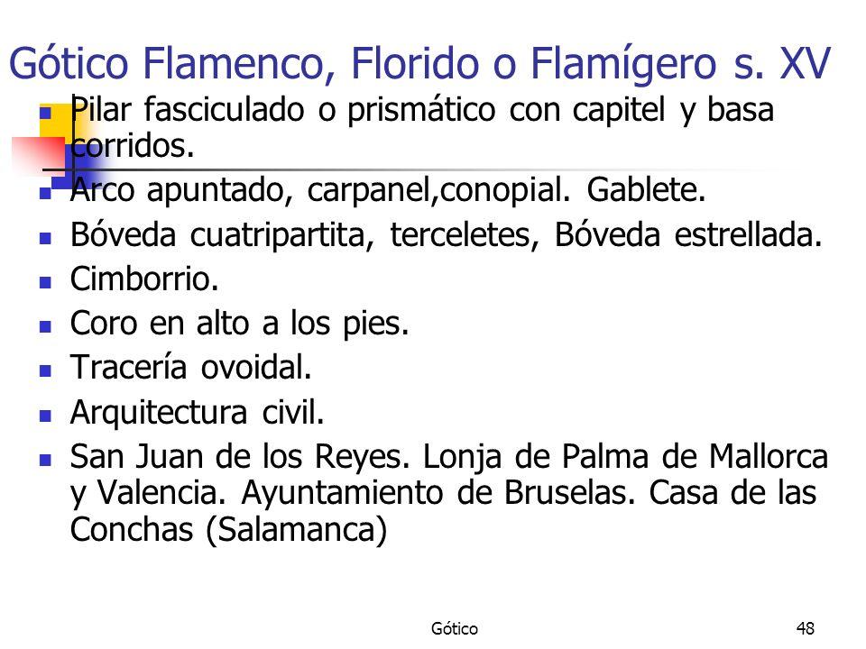 Gótico Flamenco, Florido o Flamígero s. XV