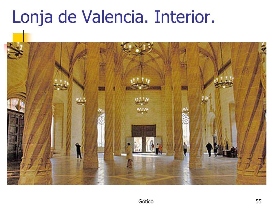 Lonja de Valencia. Interior.