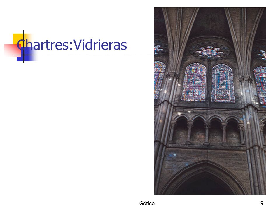 Chartres:Vidrieras Gótico