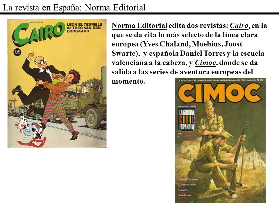 La revista en España: Norma Editorial